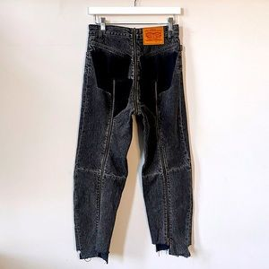 VETEMENTS Official Zipper Jeans from 2017 in black